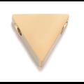 Perle triangle en acier inoxydable 9x8mm