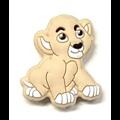 Perle roi lion Simbà en silicone alimentaire sans BPA 30x26mm