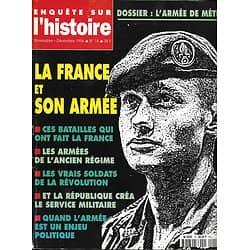 ENQUETE SUR L'HISTOIRE N°18 NOV.-DECEMBRE 1996 LA FRANCE ET SON ARMEE