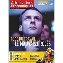 ALTERNATIVES ECONOMIQUES n°369 juin 2017  CODE DU TRAVAIL/ MACRON/ LE BIO/ IMMIGRATION/ LE CLOUD/ ROYAUME-UNI/ LE GRAND PARIS