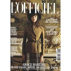 L'OFFICIEL n°1018 octobre 2017  Grace Hatzel/ Chiuri/ Theykens/ Daho & C.Valois/ New faces