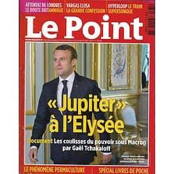 """LE POINT n°2335 08/06/2017  Macron: """"Jupiter"""" à l'Elysée/ Llosa/ Permaculture/ Livres de poche"""