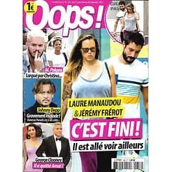 OOPS! n°256 15/09/2017 Manaudou & Frérot/ Depp/ Clooney/ Pokora/ Pitt & Jolie/ Middleton