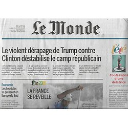 LE MONDE n°22262 11/08/2016  JO Rio/ L.Cohen/ Tourisme en Europe sud/ Richter/ Glacier Eqi