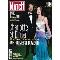 PARIS MATCH n°3573 09/11/2017  Charlotte Casiraghi & Dimitri, le conte de fées/ Trump, un an déjà/ Ramadan le gourou/ Louvre d'Abu Dhabi