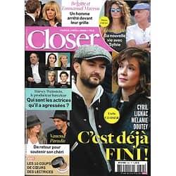 CLOSER n°644 13/10/2017 Lignac & Doutey/ Affaire Weinstein/ Les Macron/ V.Paradis/ Jeremstar