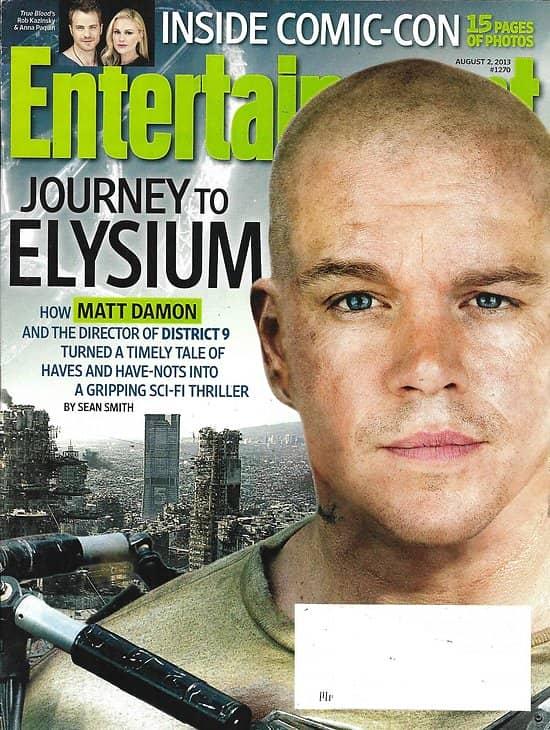 ENTERTAINMENT WEEKLY n°1270 02/08/2013  Elysium-Matt Damon/ Inside Comic-Con and tv stars/ Madonna