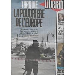 """LIBERATION n°10775 13/01/2016  Turquie, la poudrière de l'Europe/ Vaccins/ """"Carol"""" Haynes/ Mélenchon/ Valls recadré"""