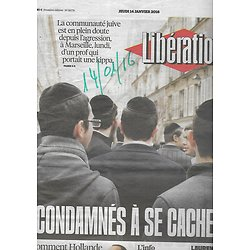 LIBERATION n°10776 14/01/2016  Communauté juive/ Hollande/ Burundi/ Quinoa/ Blasphème