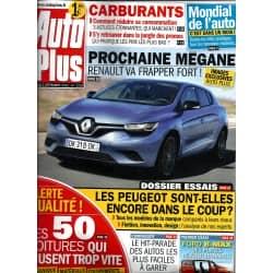 AUTO PLUS n°1252 3/09/2012  RENAULT MEGANE/ CARBURANTS