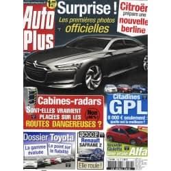 AUTO PLUS n°1128 20/04/2010  CITROEN DS6/ RADARS/ CITADINES GPL/ TOYOTA/ SAFRANE