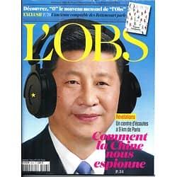 L'OBS N°2613 4 DECEMBRE 2014  COMMENT LA CHINE NOUS ESPIONNE/ NUCLEAIRE/ SANOFI