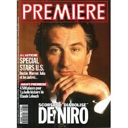 PREMIERE n°181 AVRIL 1992  ROBERT DE NIRO/ STARS US/ LELOUCH/ FORD/ SODERBERGH