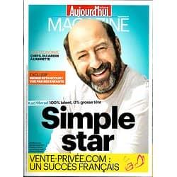 AUJOURD'HUI EN FRANCE MAGAZINE n°4610 27 JUIN 2014  KAD MERAD/ VENTE-PRIVEE.COM/ BENTANCOURT