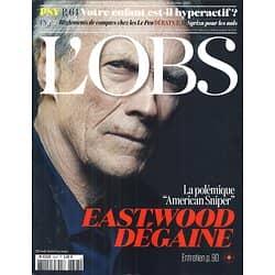 L'OBS N°2623 12 FEVRIER 2015  CLINT EASTWOOD/ HYPERACTIVITE/ LE PEN/ NISMAN/ HSBC