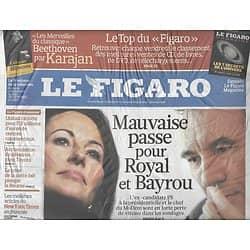 LE FIGARO N°20377 5 FEVRIER 2010 BAYROU/ ROYAL/ GAINSBOURG/ OBAMA/ STING