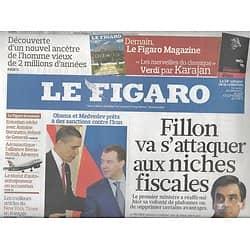 LE FIGARO N°20431 9 AVRIL 2010  IRAN/ HENRI IV/ E-BOOK/ FILLON/ GIGN/ MISTRAL