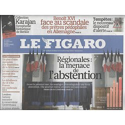 LE FIGARO N°20408 13 MARS 2010  ELECTIONS REGIONALES/ HARRISON FORD/ SCHUMACHER/ N'DOUR/ EGLISE