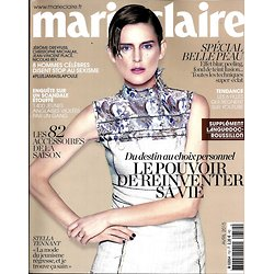 MARIE CLAIRE (POCKET) N°752 AVRIL 2015  STELLA TENNANT/ NINEY/ BADINTER/ REINVENTER SA VIE/ BELLE PEAU