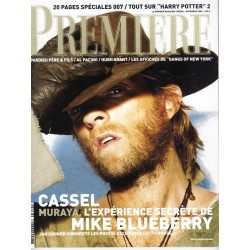 PREMIERE n°309 novembre 2002  Vincent Cassel/ Harry Potter/ 007-Brosnan/ Pacino/ Blanchett/ Depardieu