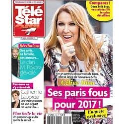 TELE STAR N°2102 14/01/2017 CELINE DION/ M. POKORA/ LABORDE/ BLANCHETT/ KIDMAN