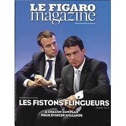 LE FIGARO MAGAZINE N°22462 28/10/2016  VALLS&MACRON: FISTONS FLINGUEURS/ LUXEMBOURG/ PARIS PHOTO