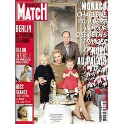 PARIS MATCH N°3527 22/12/2016  ALBERT&CHARLENE DE MONACO/ MISS FRANCE/ FILLON/ ATTENTAT A BERLIN/ ALEP-SYRIE