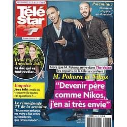 TELE STAR N°2107 18/02/2017 POKORA & ALIAGAS/ PITT & JOLIE/ SHEILA/ BRASSENS/ DE GROODT