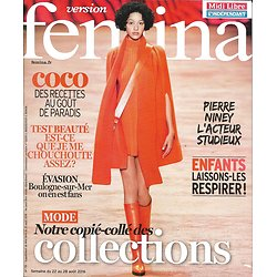 VERSION FEMINA N°751 22/08/2016 COLLECTIONS/ PIERRE NINEY/ COCO/ BOULOGNE-S-MER