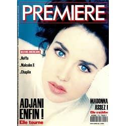 PREMIERE n°192 mars 1993  ISABELLE ADJANI/ MADONNA/ SARANDON/ MALCOLM X/ DEPP