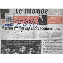LE MONDE n°22432 25/02/2017  MACRON & ECONOMIE/ HAMON & ECOLOGIE/ SUBSTANCES CANCEROGENES/ GENERATION PROTESTATION