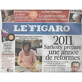 LE FIGARO N°20657 31/12/2010  REFORMES 2011/ MICHELLE OBAMA/ BEST OF CULTURE 2010
