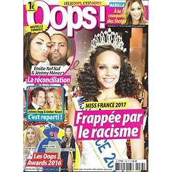 OOPS! N°236 23/12/2016  MISS FRANCE ALICIA AYLIES/ DEPP&HEARD/ NABILLA/ OOPS AWARDS