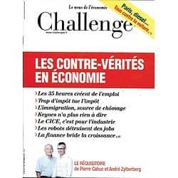 CHALLENGES N°487 1er SEPTEMBRE 2016  LES CONTRE-VERITES EN ECONOMIE/ L.BERGER/ ORANGE/ LE NORMANDY