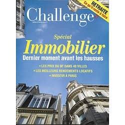 CHALLENGES n°497 10/11/2016  Spécial Immobilier/ HP/ Tricoire/ Tourisme Paris/ La Redoute