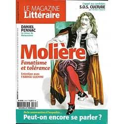 LE MAGAZINE LITTERAIRE n°575 janvier 2017  MOLIERE/ LUCHINI/ PENNAC/ LA CONVERSATION/ LA BOETIE