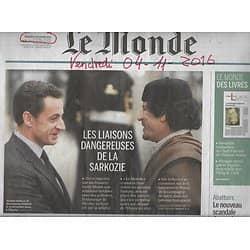 LE MONDE n°22335 04/11/2016  SARKOZY & ARGENT LYBIEN/ AIR FRANCE/ THOMAS MANN