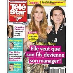 TELE STAR N°2117 29/04/2017  CELINE DION/ BOLLAERT/ POMPEO/ DHELIAT/ DARC/ PORTMAN