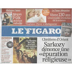 LE FIGARO n°20663 08/01/2011  CHRETIENS D'ORIENT/ SOUDAN/ ALGERIE/ METEO FRANCE/ EXPOSITIONS