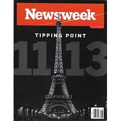 NEWSWEEK VOL.165 N°19 11 NOVEMBRE 2015  ATTENTATS PARIS/ COP21 CLIMAT/ BANQUE DES GENES
