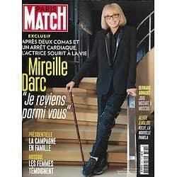 PARIS MATCH N°3541 30 MARS 2017  MIREILLE DARC/ PRESIDENTIELLE/ MOSSOUL/ LE NAIN/ RORHBACH/ VANIER