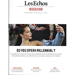 LES ECHOS WEEK-END n°65 24/02/2017  Les Millenials & la mode/ Jared Kushner/ M6/ Luther/ Le bridge