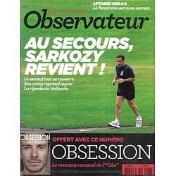 LE NOUVEL OBSERVATEUR n°2473 29/03/2012  Sarkozy revient/ Affaire Merah/ Free/ Fractures françaises
