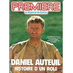 PREMIERE n°116 novembre 1986 DANIEL AUTEUIL/ BEART/ MONTAND/ BRASSEUR