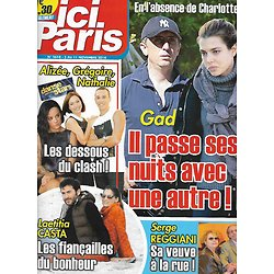 ICI PARIS n°3618 05/11/2014  Gad Elmaleh/ Alizée/ Laëtitia Casta/ Serge Reggiani/ Jacques Dutronc/ Stars au Salon du chocolat