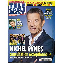 TELECABLE SAT HEBDO n°1408 29/04/2017  MICHEL CYMES/ ROBERT MITCHUM/ L'EXORCISTE/ TITOFF
