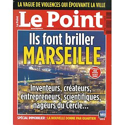 LE POINT n°2066 19/04/2012  Ils font briller Marseille/ La haine des riches/ Munch/ Etam/ Jean Daniel