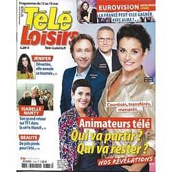 TELE LOISIRS N°1628 13/05/2017  ANIMATEURS TV/ JENIFER/ EUROVISION/ NANTY/ KOH-LANTA