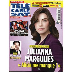 """TELECABLE SAT HEBDO n°1409 06/05/2017 MARGULIES """"THE GOOD WIFE""""/ JEREMY FERRARI/ C POLITIQUE/ THE LEFTOVERS"""