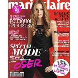 MARIE CLAIRE n° 697 septembre 2010  Spécial mode/ Yannick Noah/ Brigitte Bardot/ Sydney